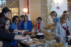 Southwestern hosted a community reception Monday evening