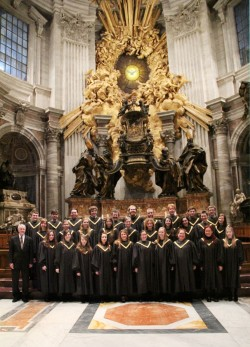 Members of the SU Chorale ended up singing in St. Peter's Basilica at the same time the new pope was conducting mass in th...