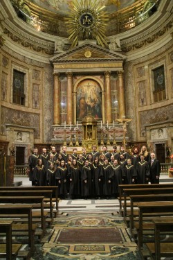 The SU Chorale sang at Chiesa del Gesu in Rome on March 13, the same day the new pope was announced. Chiesa del Gesu is th...