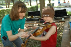 An instrument petting zoo is among the activities that will be available for children at the April 6 SU Arts Festival spon...