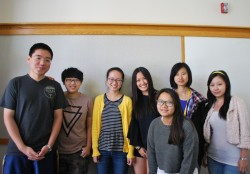 Peter Pang, Zichen Jiang, Peishi Zhao, Lily Liu, Yeats Ye, Ruoying Hao and Grace Yu are among the students from China who ...
