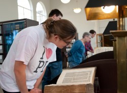 English professor Michael Saenger used some of the oldest books in Special Collections for his new First-Year Seminar that...