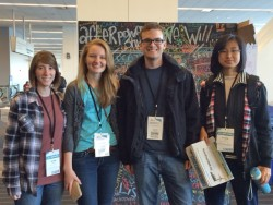 Just two months after arriving at Southwestern, Ruoying Hao (right) attended the Powershift conference in Pittsburgh with ...