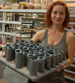 For her King Creativity project, Taylor Hutchison plans to formulate and create her version of a perfect glaze for ceramic...