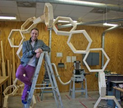 Charles Morris is using his King Creativity Fund grant to build a 15- to 20-foot steel sculpture. (Photo by Anne Bannister)