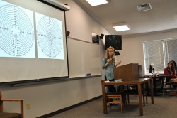 Senior religion major Montana Steele did her capstone project on labyrinths.