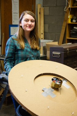 Isabella Ferranti plans to recreate a flat-disk turbine designed by Nikola Tesla. (Photo by Anne Bannister)