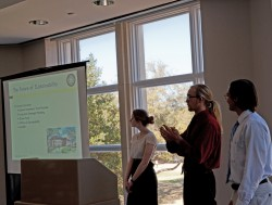 Jennifer Olson, Joey Kyle and Thomas Newman are part of the spring 2014 Environmental Studies capstone class that is tryin...