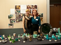 Jordan and Taylor Hutchison show off their ceramics project that won the $2,500 Walt Potter Prize at the King Creativity S...