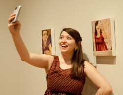 "Senior Sarah Kinney has used the social media platform Snapchat to send and receive more than 5,000 ""selfies."" F..."