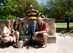 Members of the SU Garden have installed a potted herb and vegetable garden on the Campus Center Patio. Herbs and vegetable...
