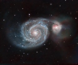 Taylor Hutchinson, Raina Musso and Francis MacInnis captured this image of the Whirlpool Galaxy using the research telesco...