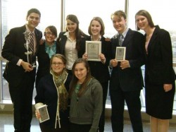 Eight members of Southwestern's Mock Trial Team are preparing for a national tournament to be held March 27-29.