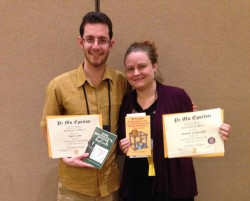 Lehr and Heather Gronewald both received awards for the presentations they gave.