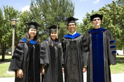 New faculty members joining Southwestern in fall 2014 are (l-r) Hazel Nguyen, Debika Sihi, Jethro Hernandez-Berrones and J...