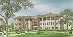Artist rendering of the Charles and Elizabeth Prothro Center for Lifelong Learning
