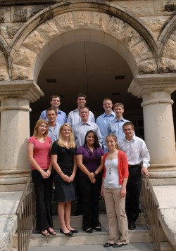 These students have been selected to participate in the Financial Analyst Program for the 2009-2010 academic year.