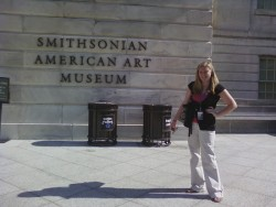 Junior art history major Meredith Henry is doing an internship with the Smithsonian American Art Museum in Washington, D.C...
