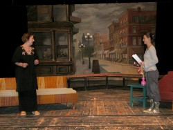 "Cast members rehearse ""For Whom the Southern Belle Tolls"" for the Bulgarian premiere of ""Durang, Durang."""