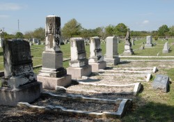Several members of the Price family are buried in the IOOF cemetery behind Southwestern.