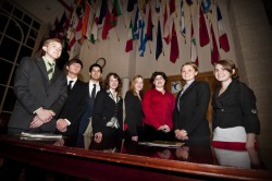 Members of the new Model UN team pose for a group photo. (photo by Carlos Barron)