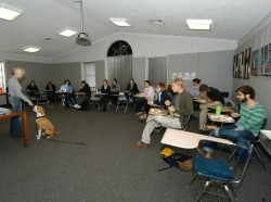 Laura Hobgood-Oster's Animals and Religion class is one of the most popular classes with students.