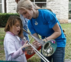 "The SU Arts Festival gives aspiring musicians the chance to try different instruments at the ""instrument petting zoo...."