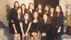 Members of the new Kappa Delta Chi sorority at Southwestern.