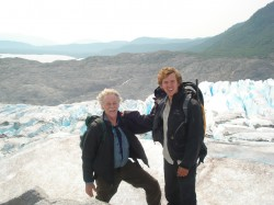 Connor Hanrahan (right), conducted research for his physics capstone project in Alaska last summer with Bill O'Brien, asso...