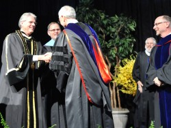 Music Professor Kenny Receives the 2010 William Carrington Finch Award (Photo by Lucas Adams).