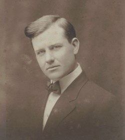 This photo shows J. Frank Dobie at Southwestern in 1910.