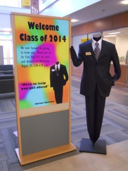 Career Services mascot Ichabod Black welcomed members of the Class of 2014 last fall. He keeps students up to date on what...
