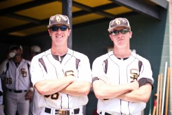 Chris and Alan Lowry are graduating in May after a successful career both on and off the baseball field. (Photo by Shelley...