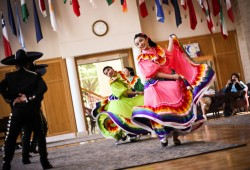 The Latino Heritage Symposium is organized by Latinos Unidos, one of six student groups that meet in the Cross Cultural Ce...