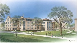 Artist's rendering of the expanded and renovated Fondren-Jones Science Building. The new entrance on the north side of the...