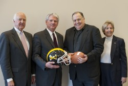 Southwestern will be reinstating football thanks to a $5 million donation from 1963 graduate Joe Seeber (second from right...