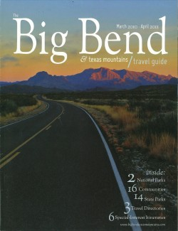 One of David Leggett's photos was selected for the cover of the 2010-2011 Big Bend Travel Guide