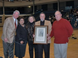 Representatives from the Downtown Georgetown Association receive the 2007 College Town Award.(Photo by Lucas Adams)