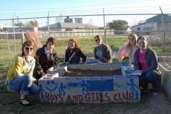 Southwestern students have helped build a new garden at the Boys & Girls Club of Georgetown.
