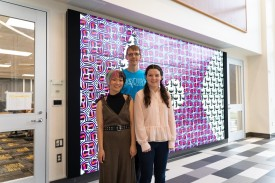 Clockwise from top: Associate Professor of Math and Computer Science Jacob Schrum, Anna Krolikows...