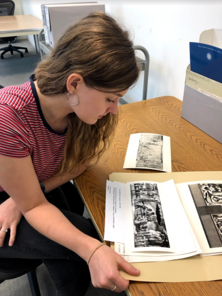 Kati Hellmer '19 at the Archives of American Art.