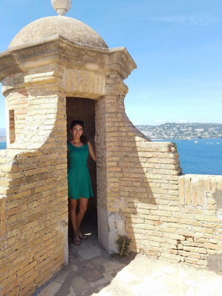 Valentina Olivieri-Puentes '19 at the Île Saint Honorat in France.