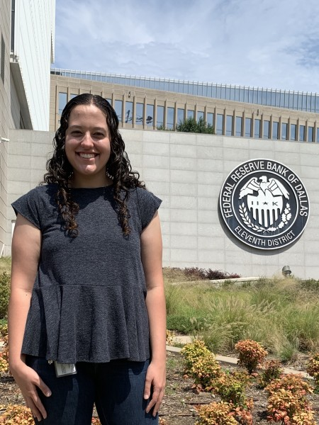Rebecca Richardson '20 served as a human-resources analyst intern at the Federal Reserve Bank ...