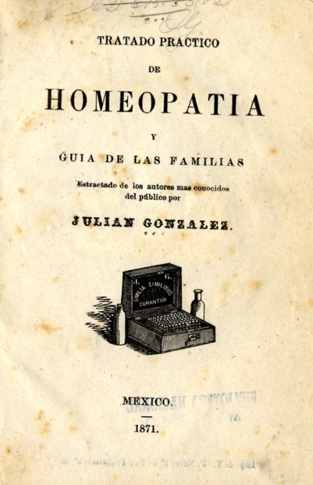 The front cover of one of the most widely distributed homeopathic domestic manuals in Mexico in t...