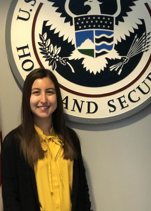 Lily Rodriguez '19 conducts archival research while interning at U.S. Citizenship and Immigration Services (USCIS) in Washington, DC.