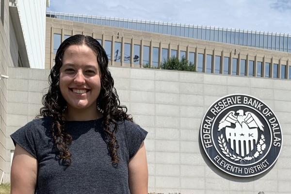 Rebecca Richardson '20 served as a human-resources analyst intern at the Federal Reserve Bank of Dallas.