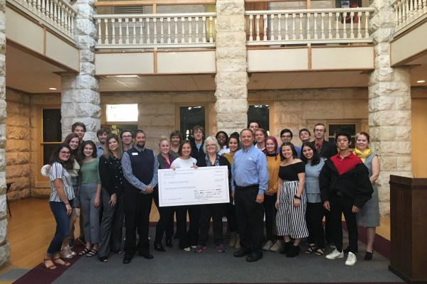 Southwestern first-year seminar Doing Good and Doing It Well: The Philosophy and Practice of Philanthropy awarded the Georgetown Family YMCA a grant of $3,500.