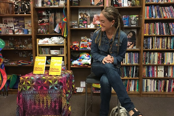 Chelsey celebrated Circadian's release at Book Woman