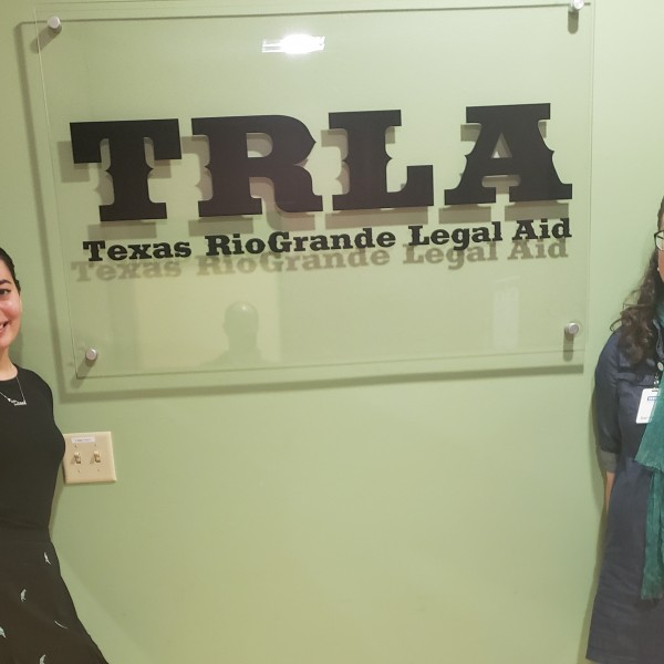 Diana Trevino '20 and her internship supervisor  lawyer Abby Anna Batko-Taylor.