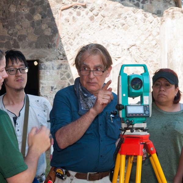 Professor of Art and Art History and Chair of Art History Thomas Noble Howe on site in Italy.